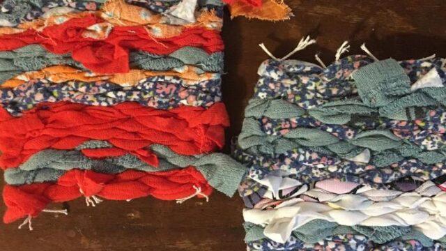 着れなくなった服が蘇る!「世界に1つだけの裂織りコースター」